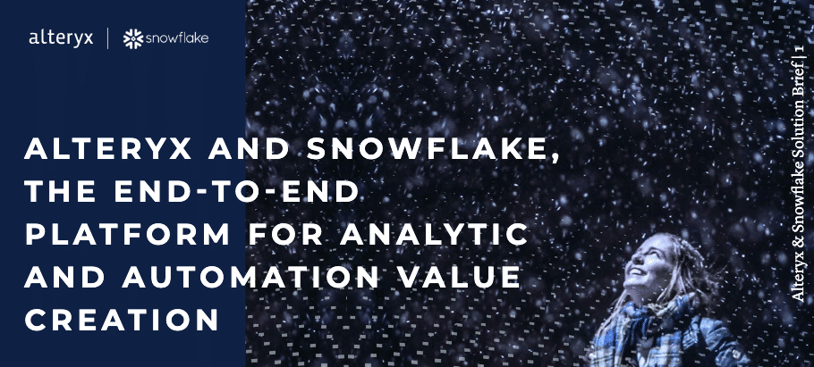 Snowflake Alteryx Solution brief